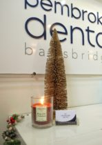 Little Christmas Tree and Candle at Pembroke Dental Ballsbridge